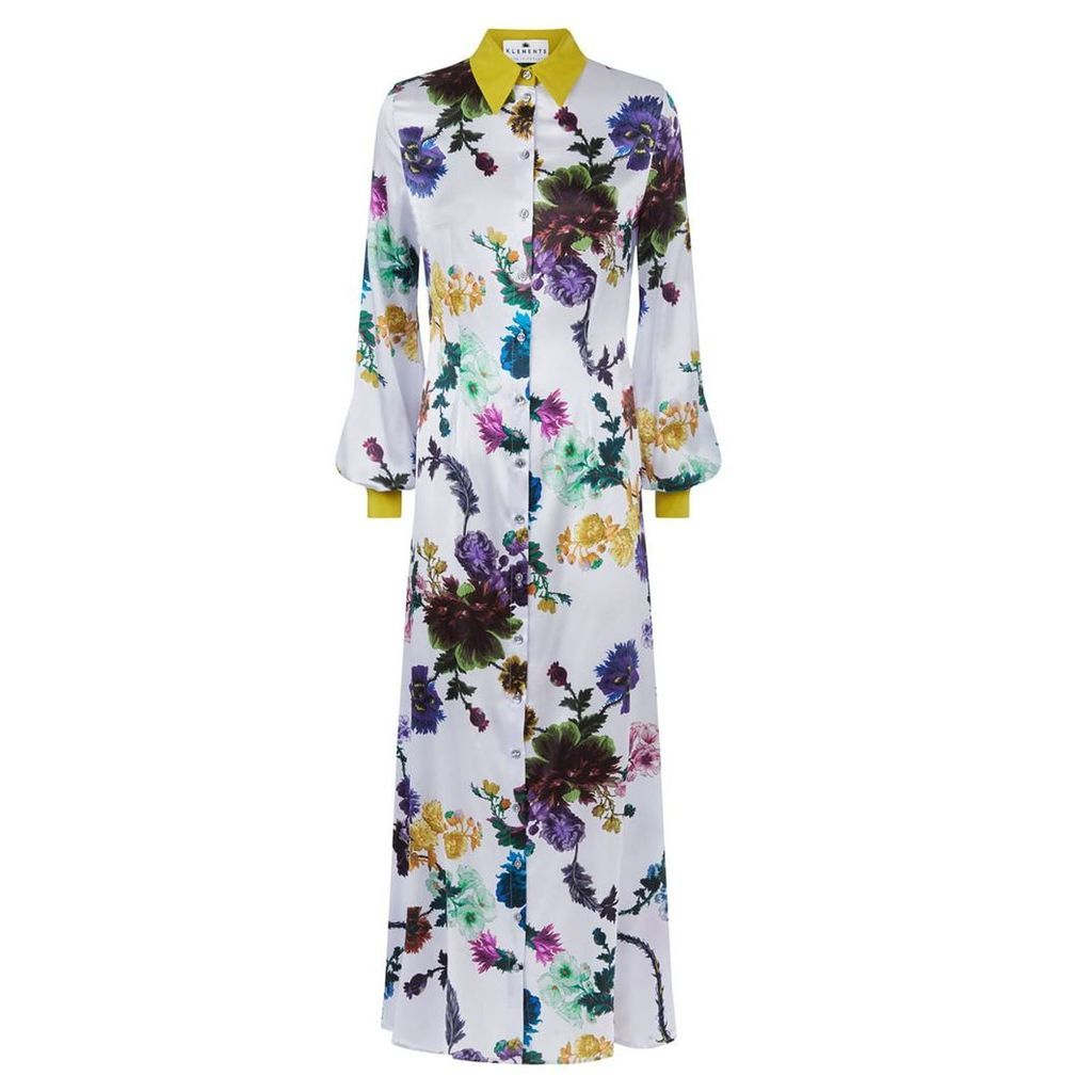 Klements - Warsaw Dress In Gothic Floral Iced Lilac