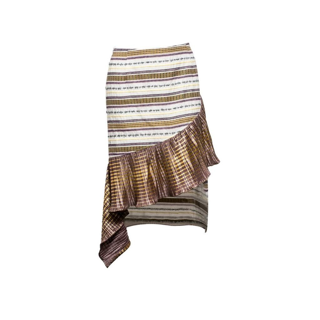Vivienne Hu - Skirt With Asymmetric Fringe Detail