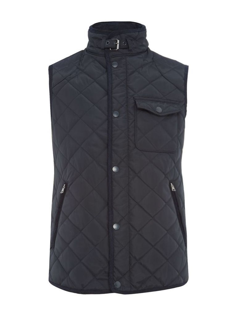 Men's Howick Howick Quilted Gilet, Midnight