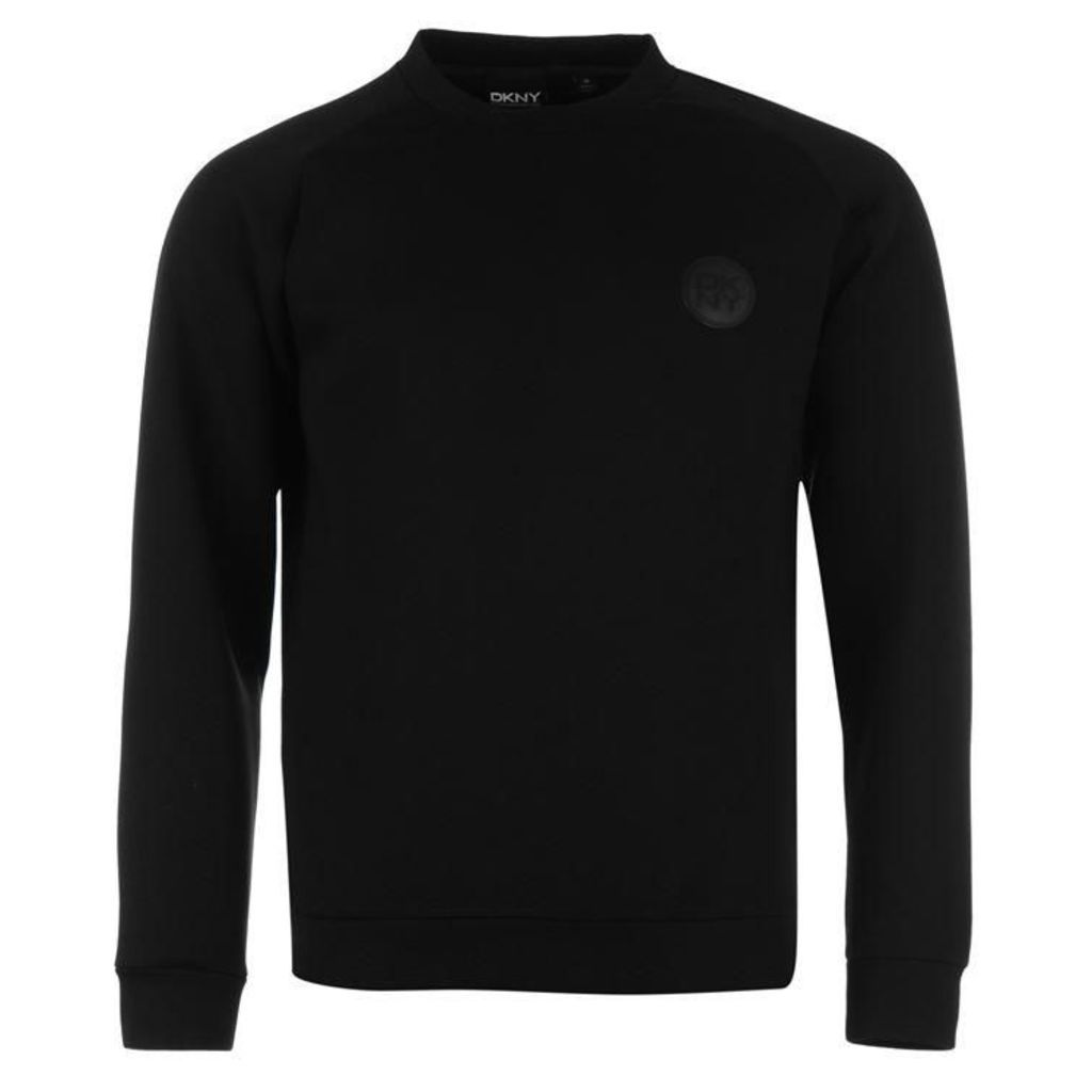 DKNY Rubber Logo Crew Neck Sweater