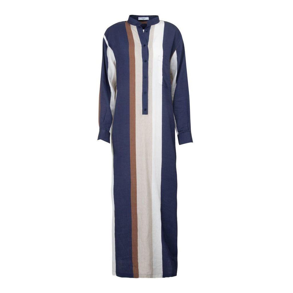 A-line Clothing - Long Multistripe Overshirt Dress