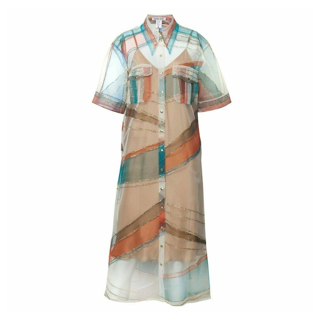 DIANA ARNO - Kendall Tulle Shirt Dress