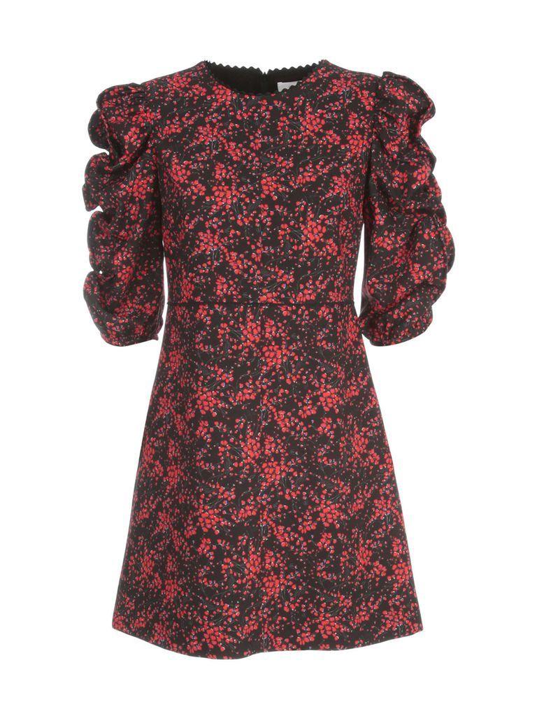 Mini S/s Dress W/ruffle On Sleeves