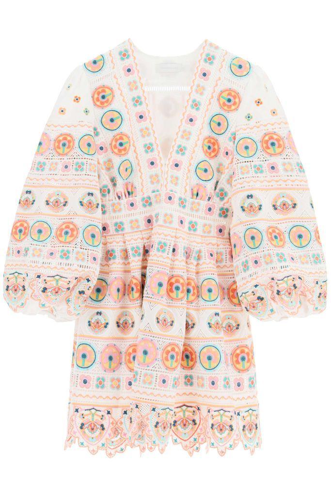 Brighton Mini Dress With Embroideries