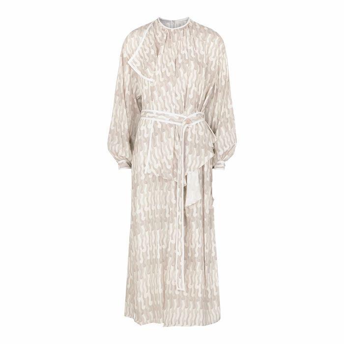 Taylor Printed Silk Midi Dress