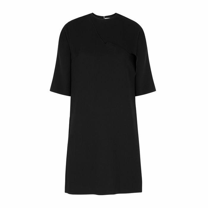 Black Draped Mini Dress