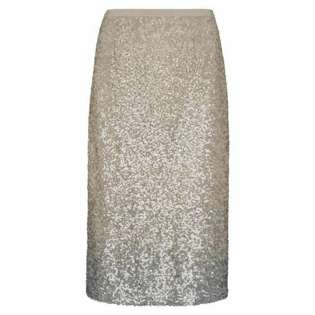 Mint Velvet Neutral Ombre Sequin Skirt
