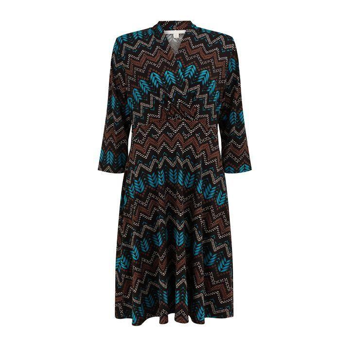 Nougat Darwin Aztec Print Dress - Green Print