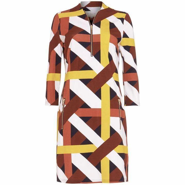 Melissa Ponte Printed Dress