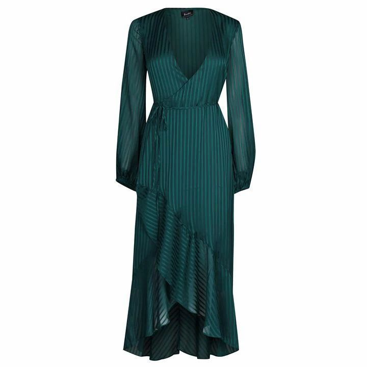 Bardot Mirela Wrap Dress - Dark Green
