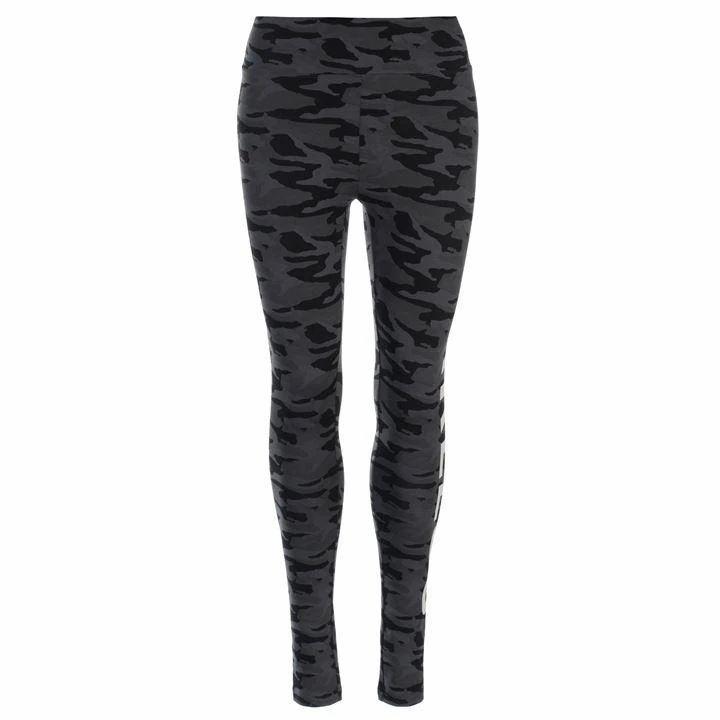 Golddigga All Over Print Leggings Ladies - Black Camo Fear