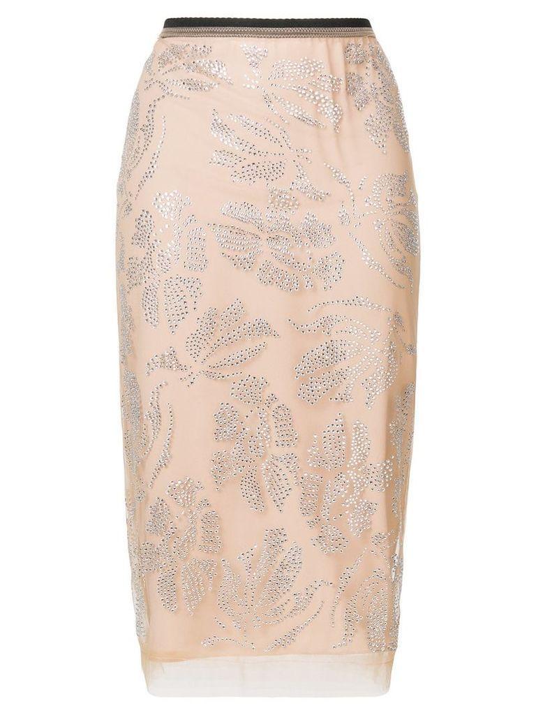 Nº21 embellished pencil skirt - Pink