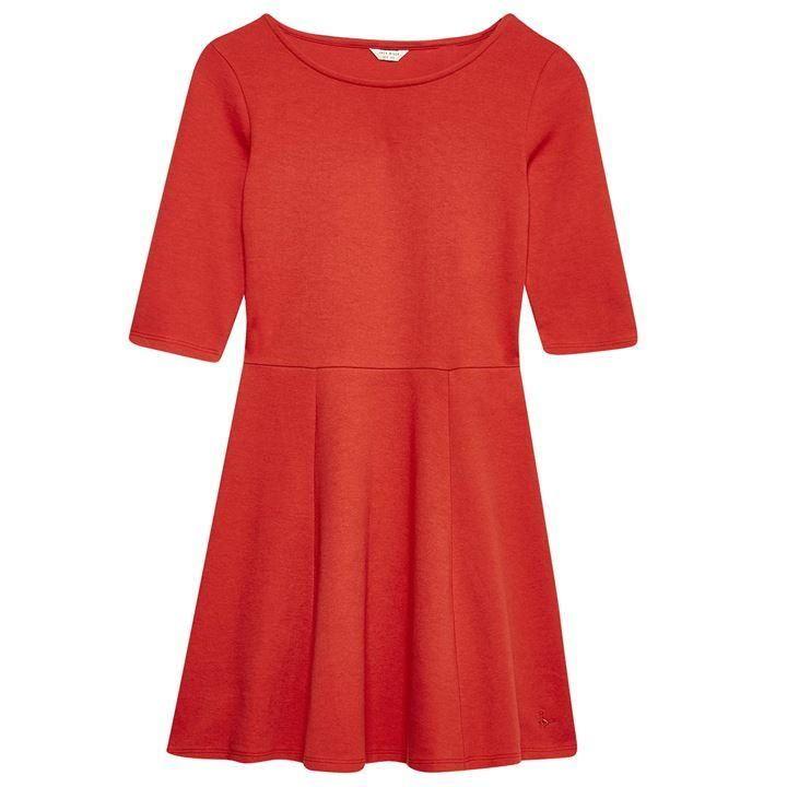Jack Wills Tenderton Jersey Skater Dress - Red