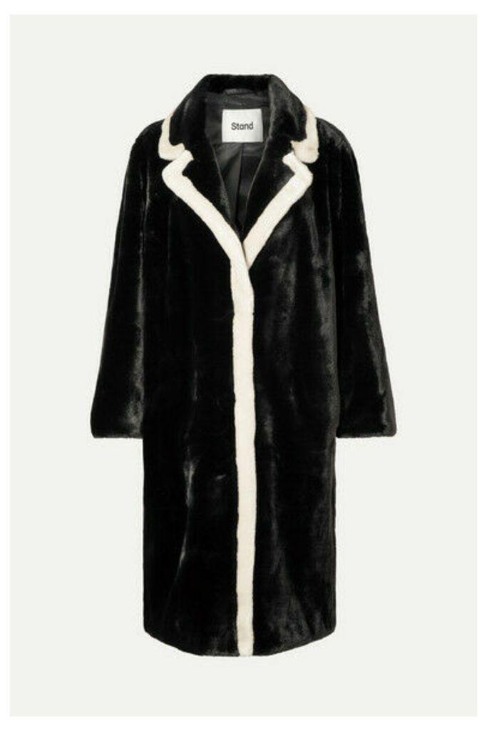 Stand Studio - Marianne Two-tone Faux Fur Coat - Black