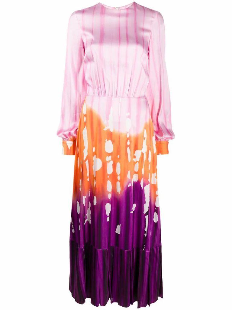 gradient print maxi dress