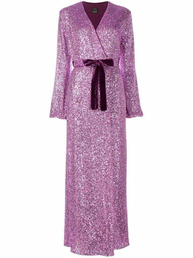 sequin embellished maxi dress