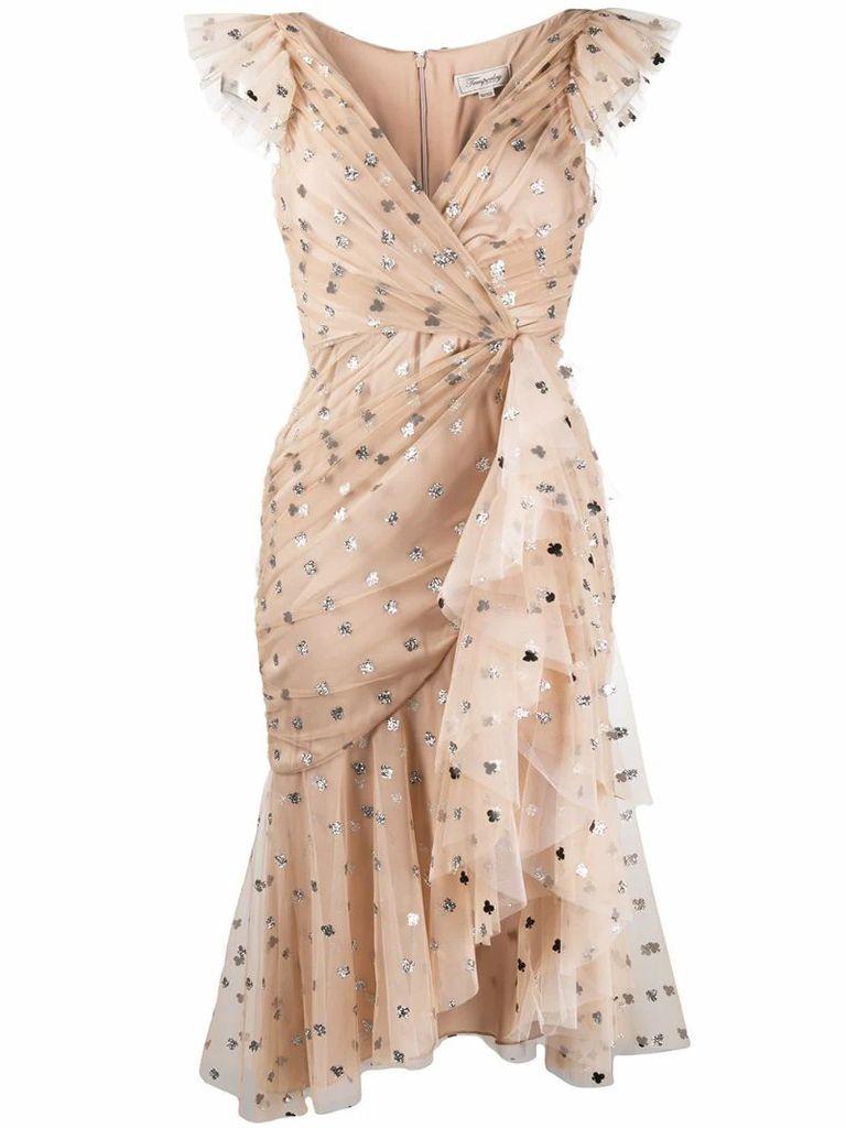 glitter polka-dot tulle dress