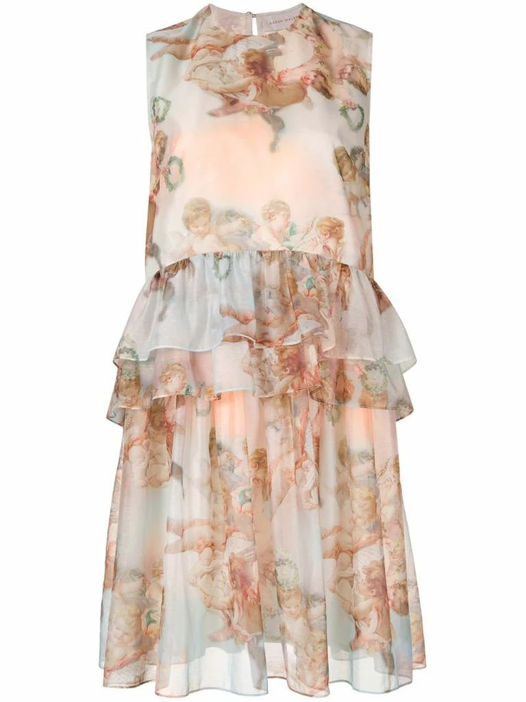 Mariana angel print dress