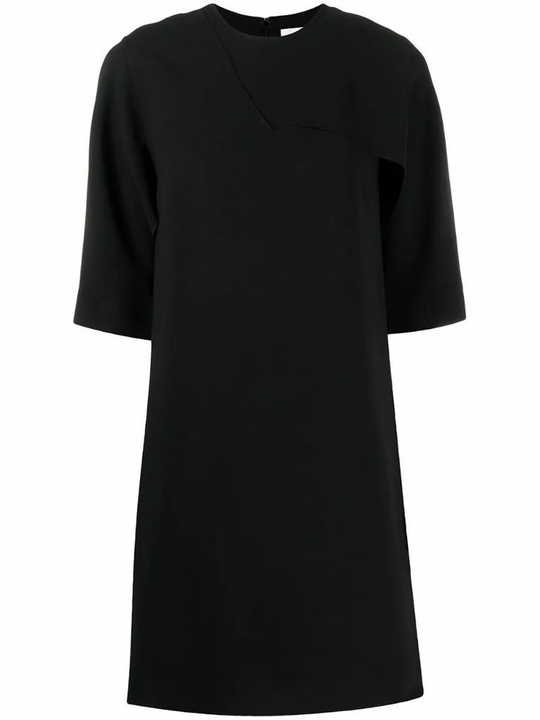 ruffled T-shirt jersey dress
