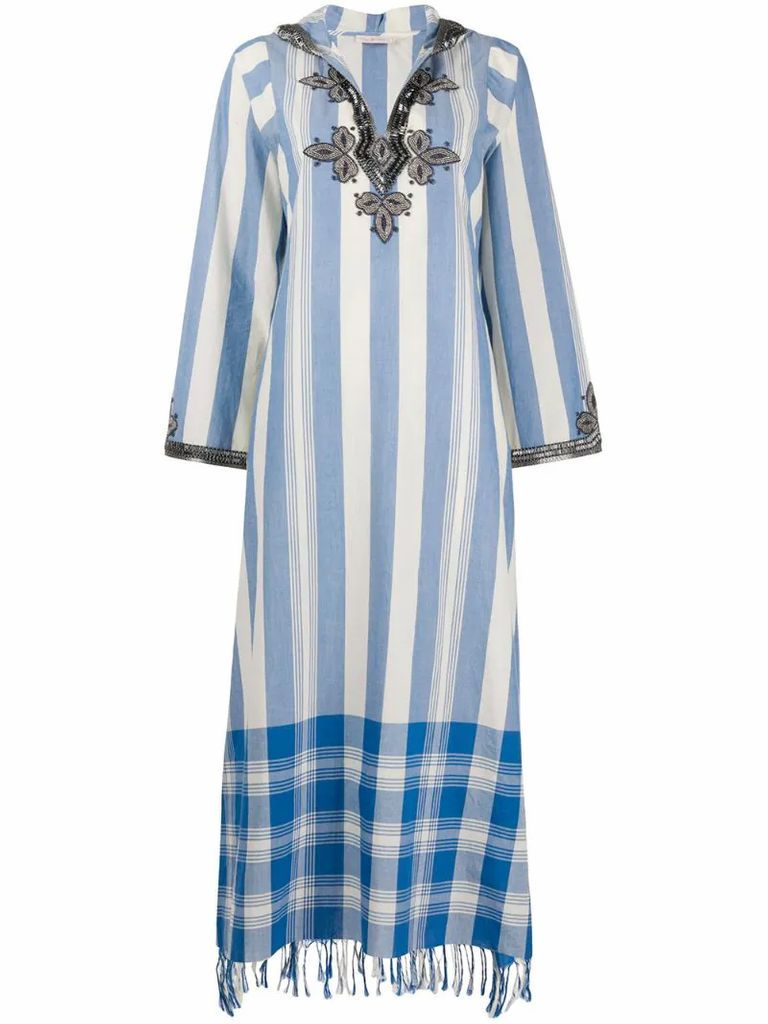 bead-embellished maxi dress