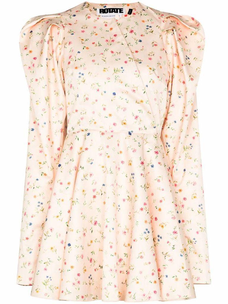 Pauline floral-print mini dress