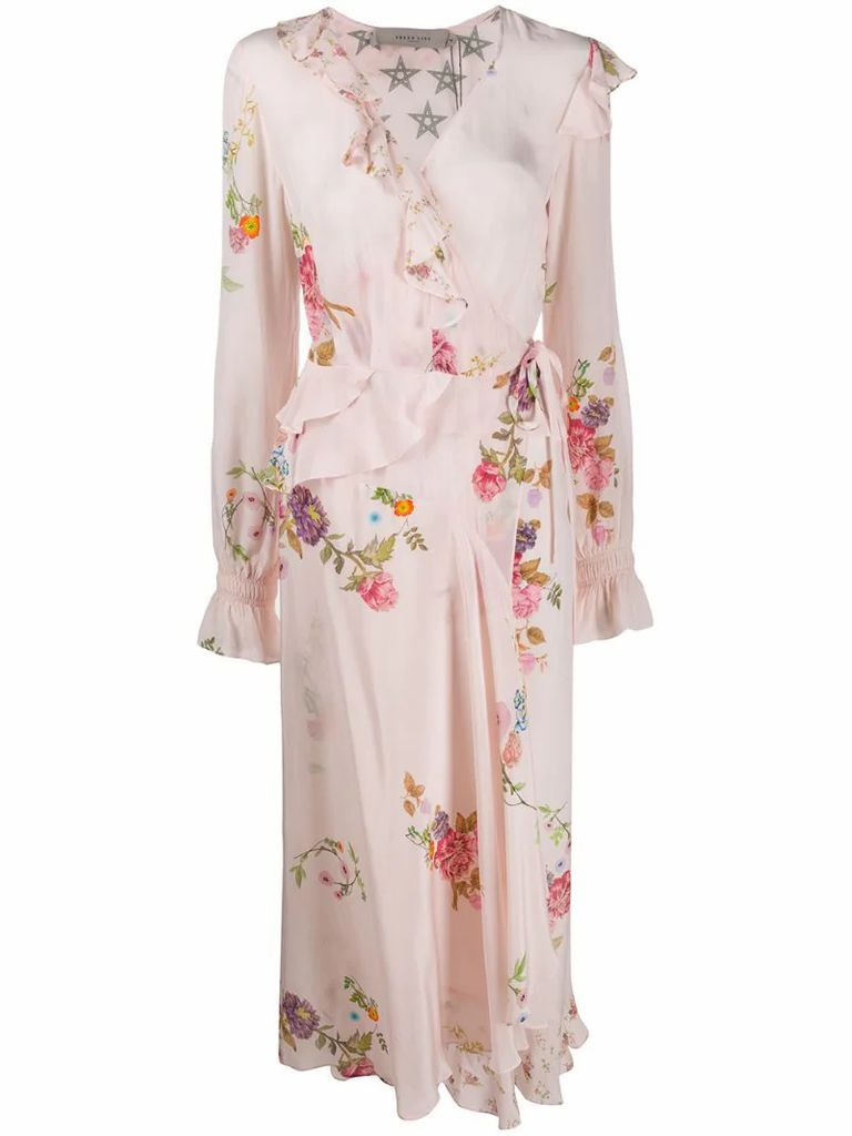 Eden floral wrap dress