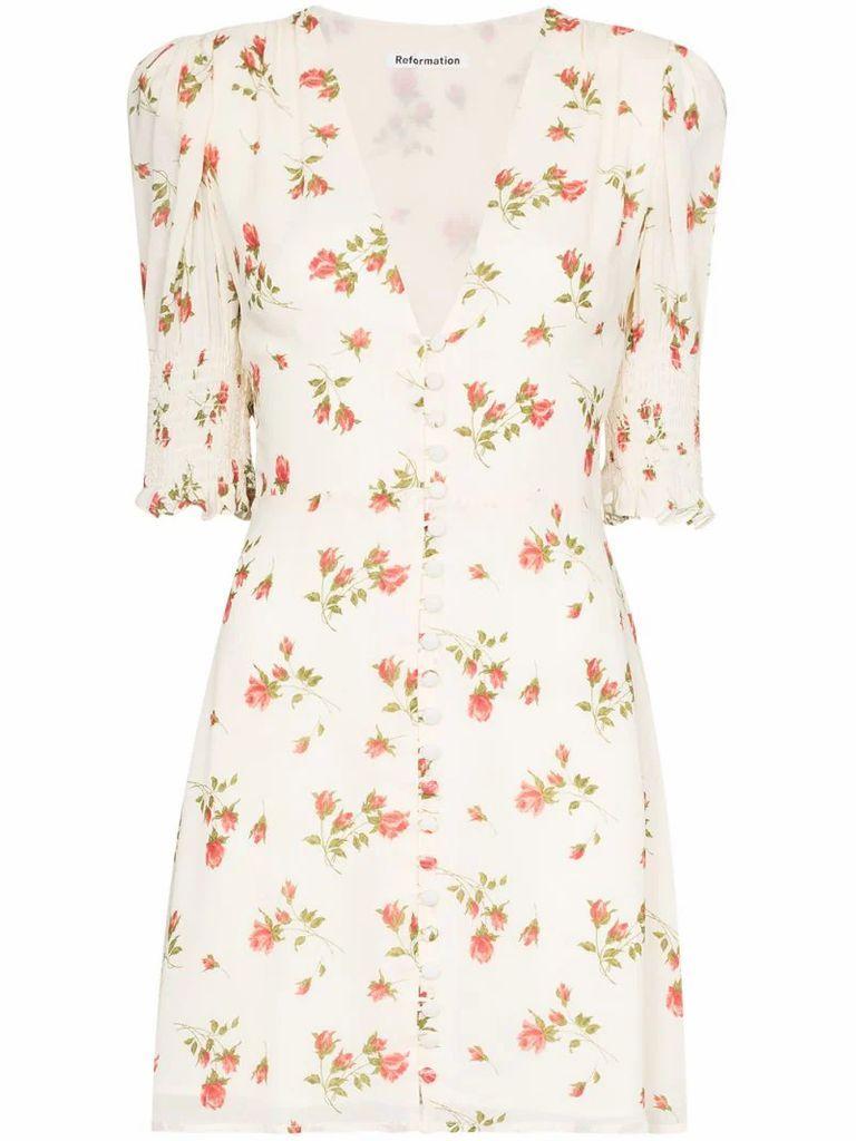 Alison floral-print mini dress