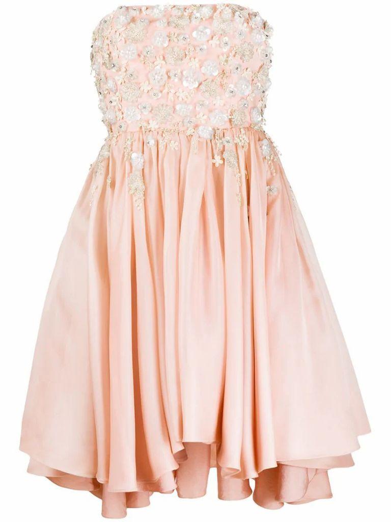 embellished strapless dress