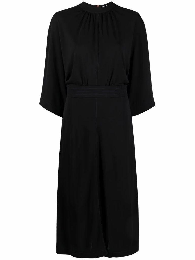 wide-sleeve dress