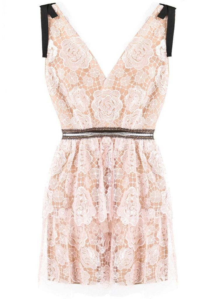 Starlet lace mini dress