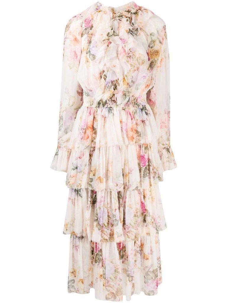 Brighton tiered frill midi dress