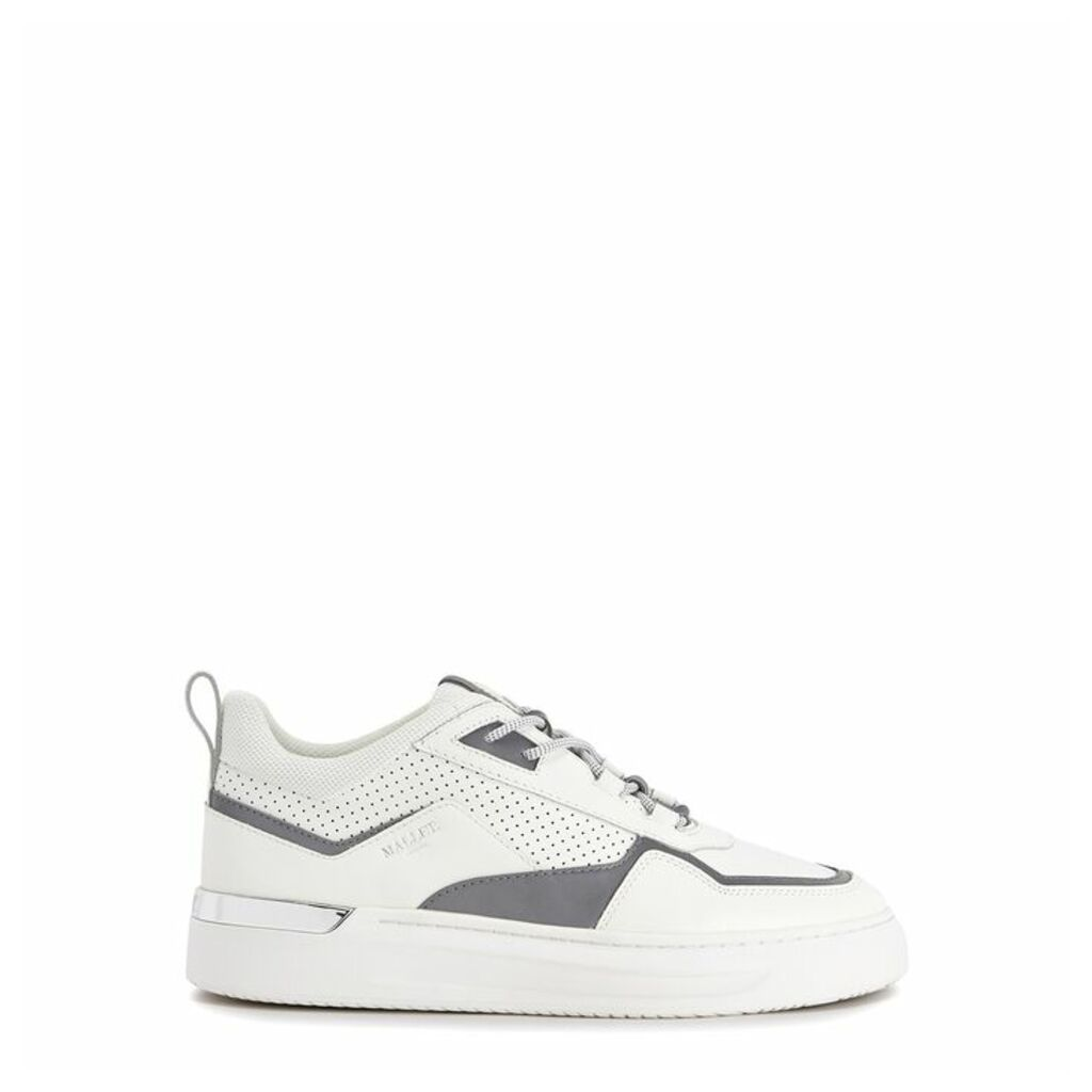 Mallet North One White Leather Sneakers