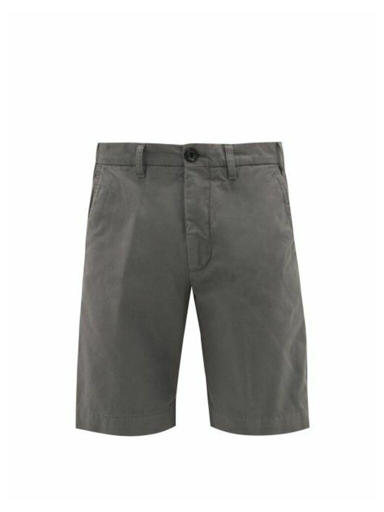 J.w. Brine - New Chris Tailored Cotton-blend Shorts - Mens - Dark Grey