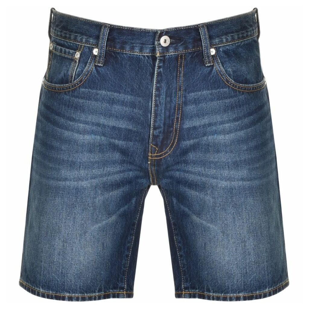 Superdry Denim Conor Taper Shorts Blue