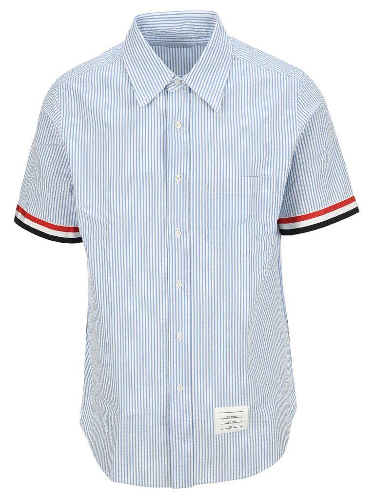 Seersucker Stripe Short Sleeve Shirt