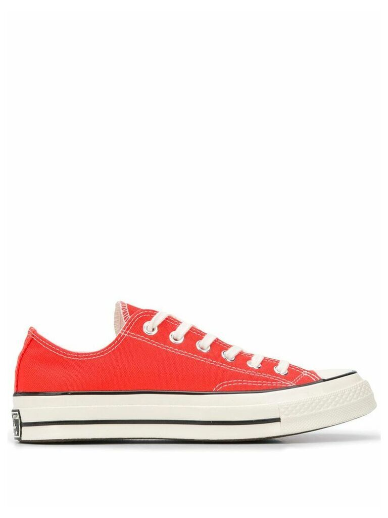 Converse Chuck 70 low-top canvas trainers - ORANGE