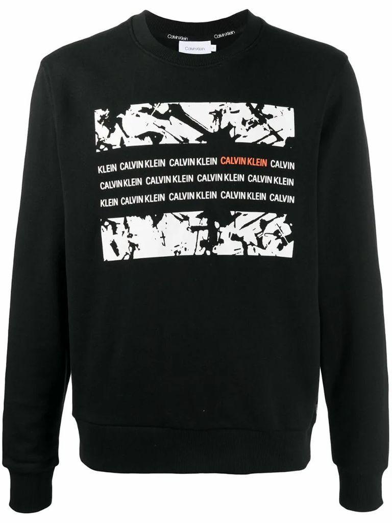 graphic box logo sweatshirt